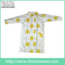 Yj-6201 Printemps EVA Imperméable Transparent Ladies Clear Raincoats for Cycling