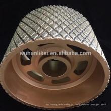 China fabricar diamante rebolo / disco para revestimento de freio