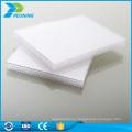 Protección UV de alta calidad de 8 mm de peso de policarbonato hoja de pared doble