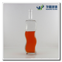 """Factory Supply """"S"""" Shape Glass Wisky Bottle with Lid"""