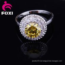 Mode neue Stile echte Gold CZ Stein Ringe