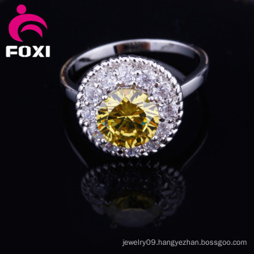 Fashion New Styles Real Gold CZ Stone Rings