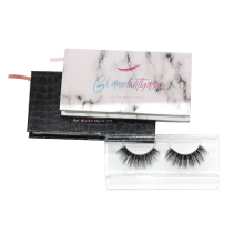 824T Hitomi Luxury Custom Eyelash Packaging Private Label Mink Lashes Cruelty Free paper packaging 3d real mink eyelash