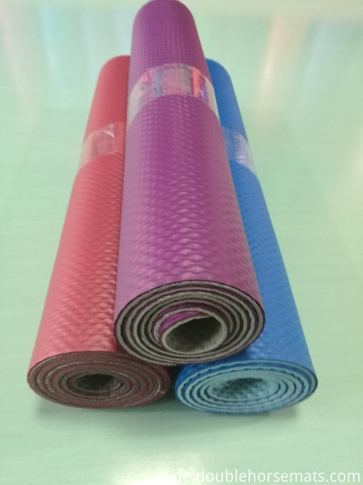 NBR double color embossed exercise mat