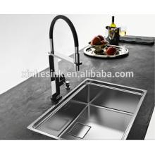 UK Inset Stainless Steel Topmount Handmade Kitchen Sink with Drainer