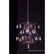 Iron Wrought Decorative Pendant Light with Crystal Drop (cos9209)