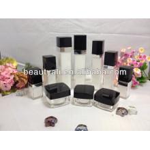 square empty cosmetic acrylic jar