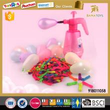 2016 Novo jogo de brinquedo de água colorida latex balão com inflator borracha balão