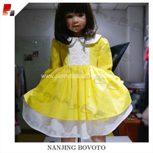 Boutique remake doll collar girl easter dress