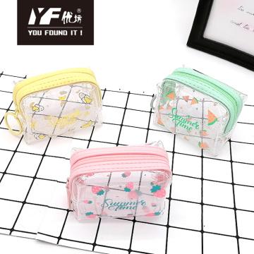 Custom fruit style PVC coin purse