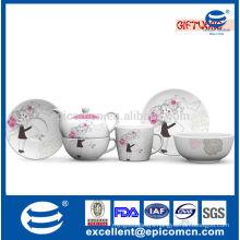 3pcs stackable tea pot wedding crockery
