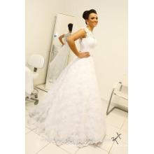 Vintage sin mangas largos vestidos de novia extraíble falda robe de mariage encaje vestido de novia vestidos de novia CWF2331