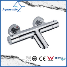 Bathroom Brass Chromed Anti-Scald Thermostatic Shower Faucet (AF3251-7)