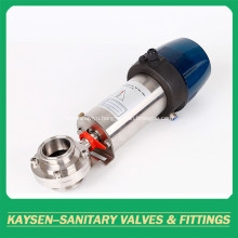Sanitary Intelligent Pneumatic Butterfly Valve Clamp 3A/SMS