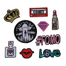 Wholesale Custom Woven Patch Apparel Bags Diy Accessories Embroidery Patches Logo For Clothing