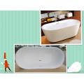 "Upc 67"" Oval Double Slipper Freestanding Soaking Bath Tub"
