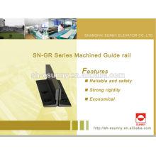 Haute qualité produit dernier chaud 2014, ascenseur guide rail, rail de guidage en aluminium, rails de guidage de convoyeur, SN-GR