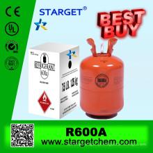 Gás refrigerante R600A em cilindro recarregável 926L / 800L / 400L / 118L