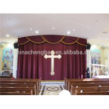 Nouveaux designs de mode de cantonnières pour décoration de rideaux d'église