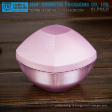 YJ-PD50 50g jar muito atraente forma camadas dobro 50g acrílica creme frascos frascos embalagens de cosméticos