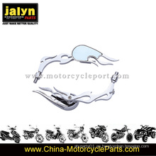 Teardrop Chromed Plated Motorcycle Side Rearview Mirror para Universal