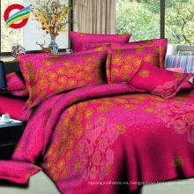 baratos modernos conjuntos de sábanas de tela de cama de impresión reactiva