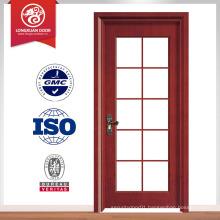 Double tempered glass design wood door, glass kitchen door design                                                                         Quality Choice