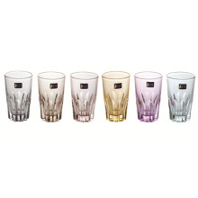 Glass Cup with Color Beer Cup Tumbler Kb-Jh06161