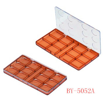 Delicate Brown Compact Powder Container With Mirror