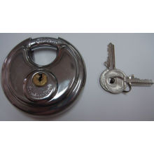 Cheap Shengli Stainless Steel Round Disc Padlock with Flat Key