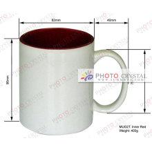 Tasses de sublimation de 11 oz couleur à l'intérieur tasses tasses de couleur intérieure