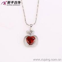 31843 Fashion Charm Rhodium Apple-Shaped Heart Imitation Jewelry Chain Pendant