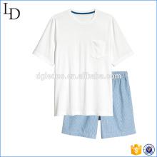 Pantalones cortos de algodón de los hombres ocasionales superiores y cortos de los pijamas