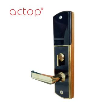 Cerradura de puerta de acero inoxidable con manija