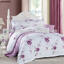 High quality pink quilt bumpers cotton 2014 design baby bedding set floral printed satin fabric
