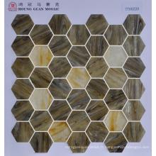 Mosaïque en verre à mosaïque d'hexagone