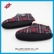 winter super warm double-side velvet soft soled men's home slipper shoes