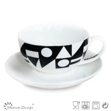 8oz Tea Set with Black Decal Design