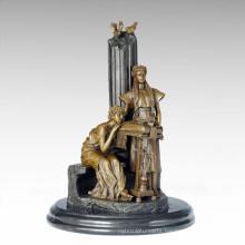 Classical Figure Statue 2 Maidens Bronze Sculpture TPE-1010