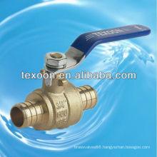 lead free Pex brass ball valves pex*pex with steel handle