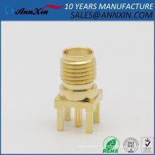 13.5 мм РП-SMA мужской контактный разъем конец запуск печатной платы гора припоя разъем