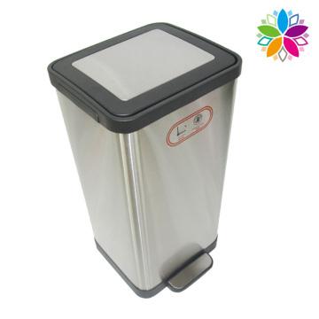 15L en acier inoxydable Sans bruit Fermer le bac à déchets de pédale (A5-SC-15L)