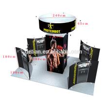 L'offre de Detian le plus bon marché le présentoir rapide fait sur commande de tissu de forme de Changhaï