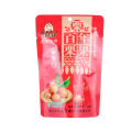 Factory Custom Design Print Stand up Bag with Ziplock Coffee Fruit Food Packaging Plastic Bag