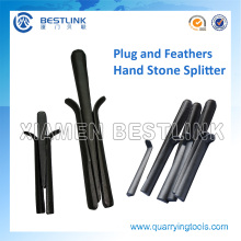 Manual Splitter Plug and Feathers for Breaking Stone