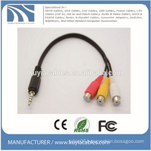 3.5mm Stereo to 3 RCA Audio Cable Male to Female 1 to 3 Audio Video Cable