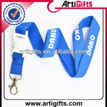 Polyester printing lanyard with blank plastic detach buckle