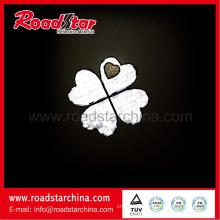 beautiful flower pvc tape reflective key chain, key ring