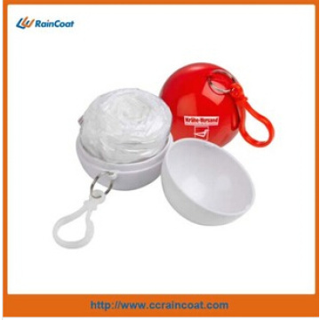 Light plastic disposable ball raincoat for adult