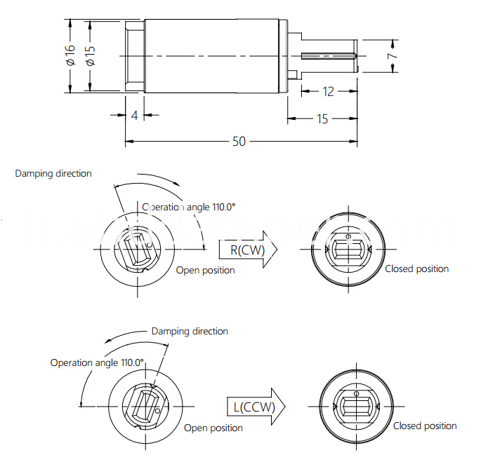 Damper Drawing For Toilet Stool